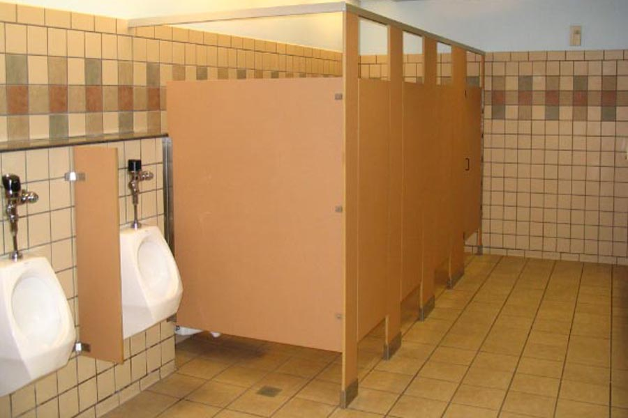 Overhead Braced/Solid Composite Bathroom Partitions